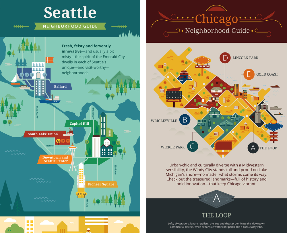 Choice Hotels: Neighborhood Guides infographics