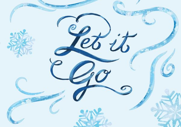 Let it Go canvas craft