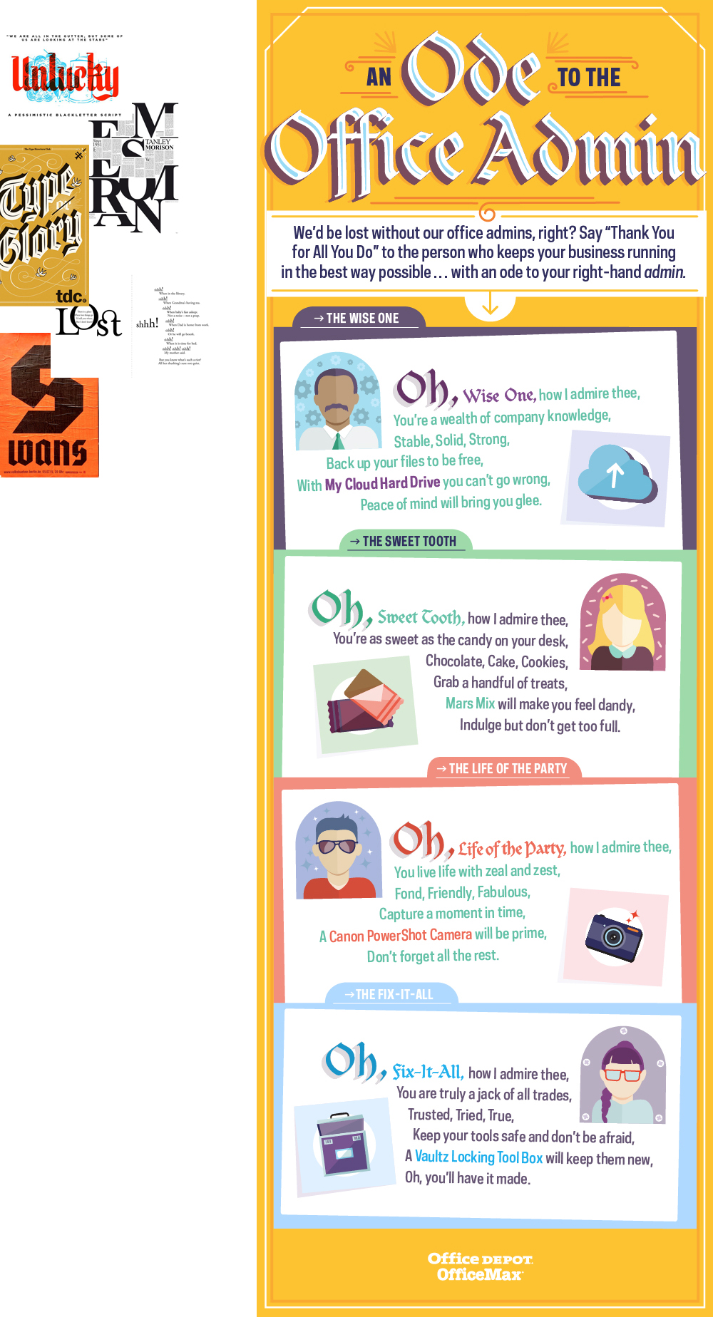 Office Depot: Ode to Admins infographic