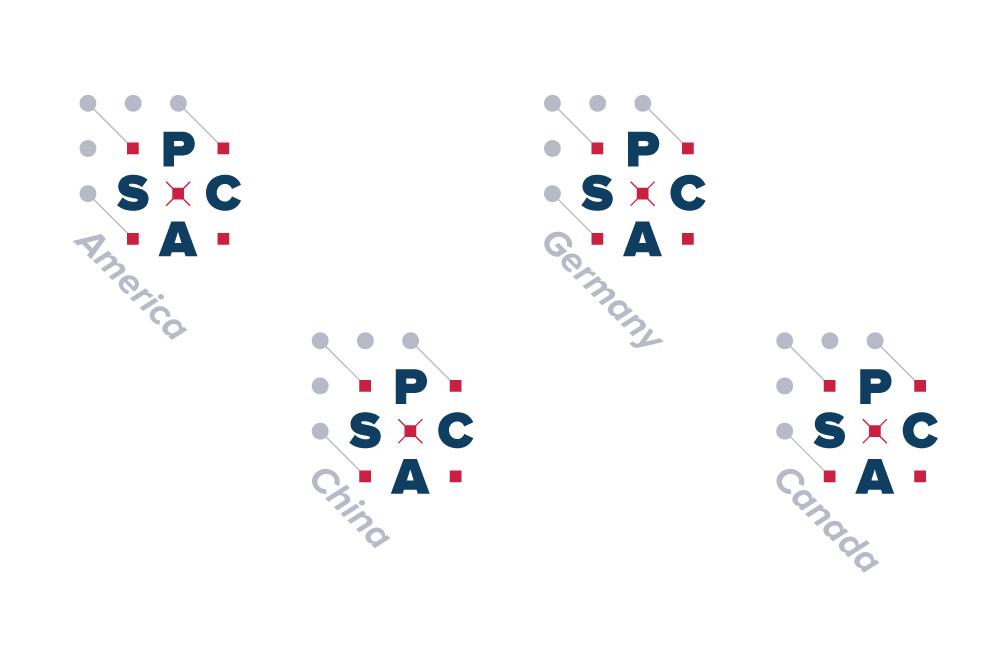 PCAS: International logos