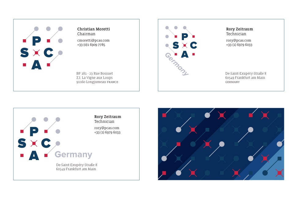 PCAS: Business cards
