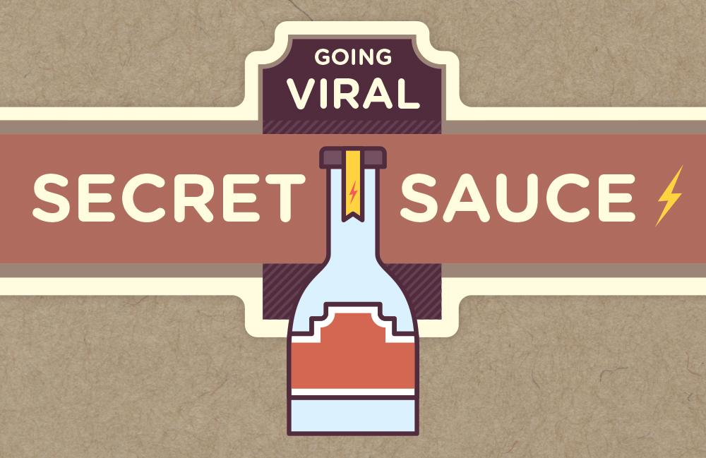 One bottle of going-viral secret sauce