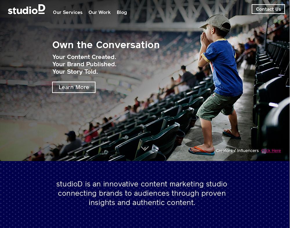 studioD: website