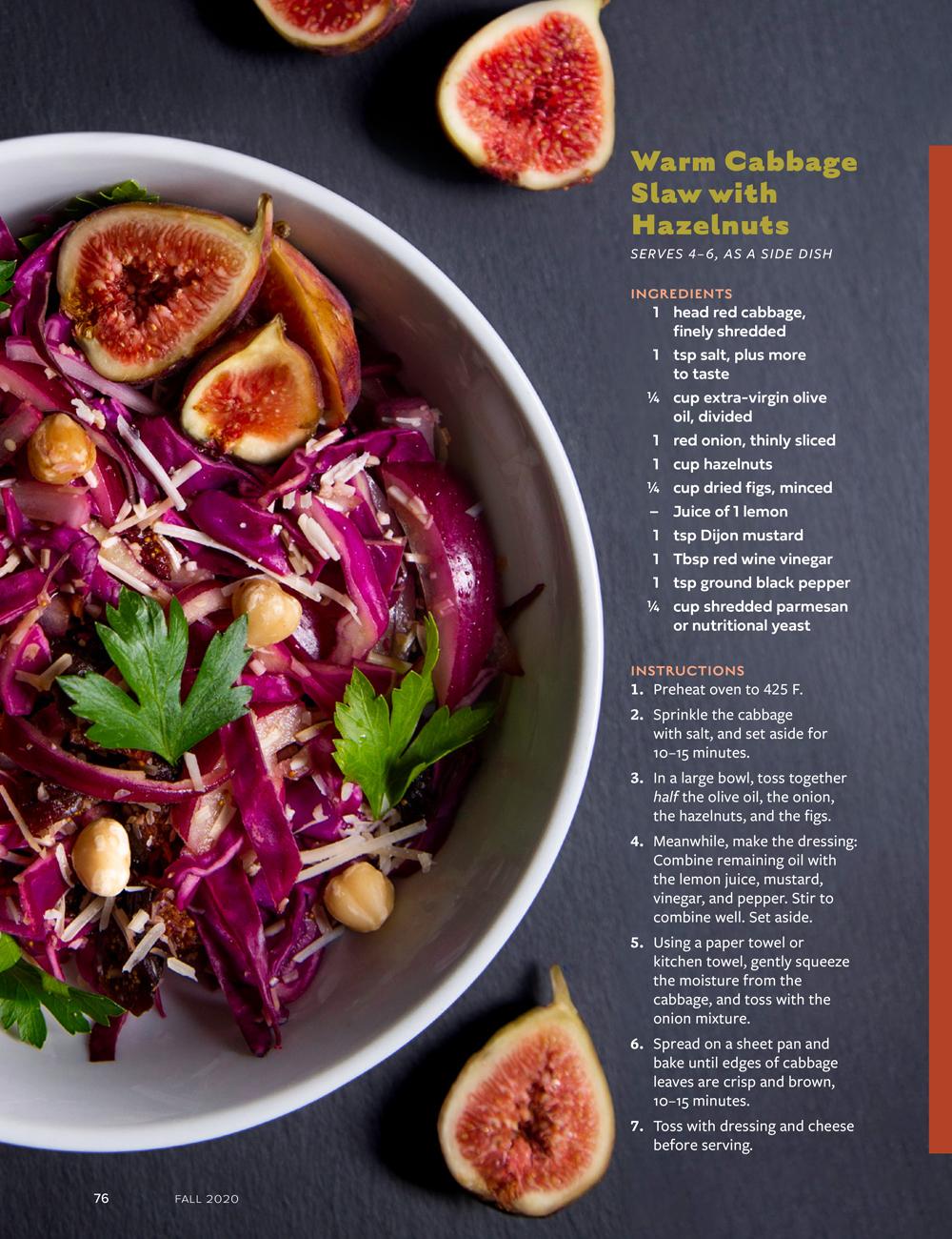 Fall Flavors: Warm Cabbage Slaw recipe